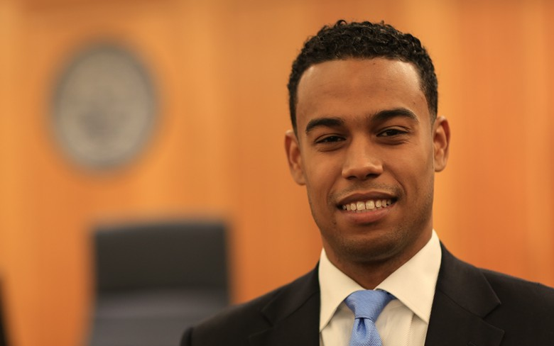 Suffolk University Law School student Gary Prado