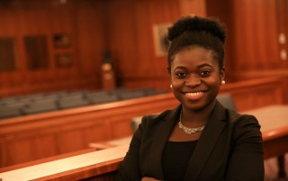 Suffolk Law School student Debbie Aderinto