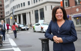 Portrait of Suffolk University Law school Associate Clinical Professor Kim McLaurin.