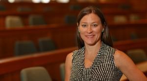 Portrait of Suffolk University Law School professor Dyane O'Leary.