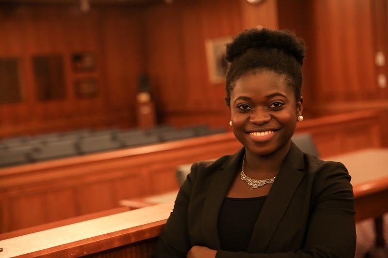 Suffolk Law School student Debbie Aderinto